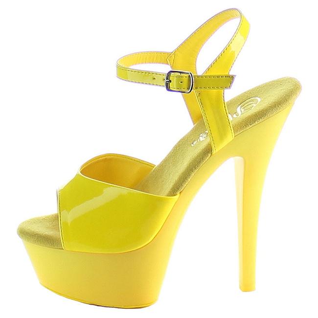 KISS-209UV gule damesko høje hæle str 35 - 36