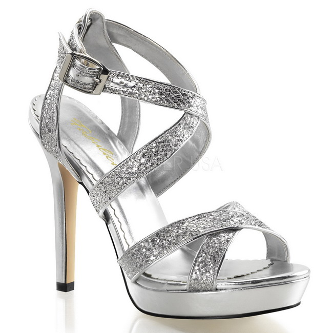 LUMINA-21 sølve sandaler dame sko str 37 - 38