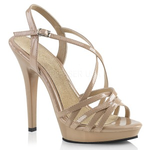 Beige 13 cm Fabulicious LIP-113 high heeled sandals