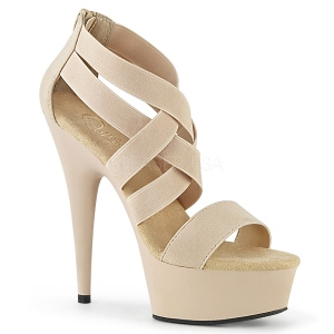 Beige elasticated band 15 cm DELIGHT-669 pleaser womens shoes
