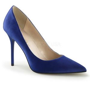 Blå Satin 10 cm CLASSIQUE-20 Dame Pumps Stilethæle Sko