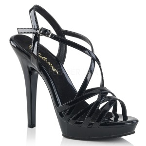 Black 13 cm Fabulicious LIP-113 high heeled sandals