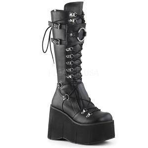 Black Vegan 11,5 cm Demonia KERA-200 goth platform boots