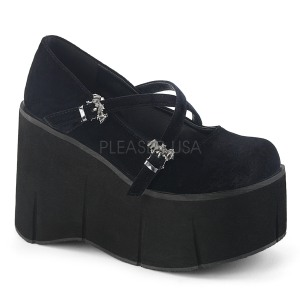 Black Velvet 11,5 cm KERA-10 lolita platform shoes