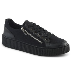 Canvas 4 cm SNEEKER-105 Mens sneakers creepers shoes