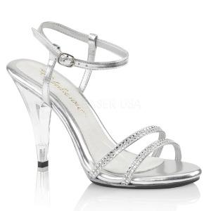 Gennemsigtig 10 cm CARESS-416 Fest sandaletter med høje hæl