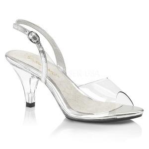 Gennemsigtig 8 cm BELLE-350 højhælede sko til mænd