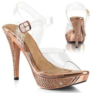 Gold Rose 11,5 cm ELEGANT-408 poserer sko - bikini fitness konkurrence høje hæle