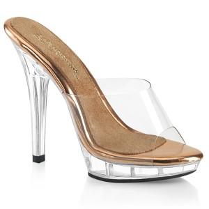 Gold Rose 13 cm LIP-101 poserer sko - bikini fitness konkurrence høje hæle