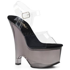 Gray 16,5 cm BEAU-608MG Women Wedge Sandals