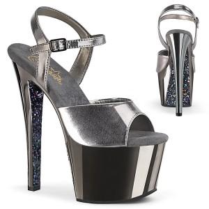 Gray chrome platform 18 cm SKY-309TTG pleaser high heels shoes