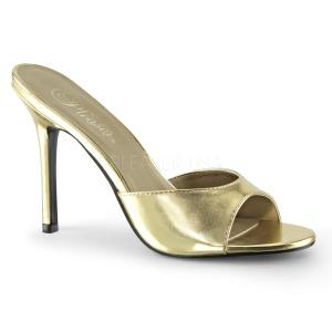 Guld 10 cm CLASSIQUE-01 dame mules med høje hæl