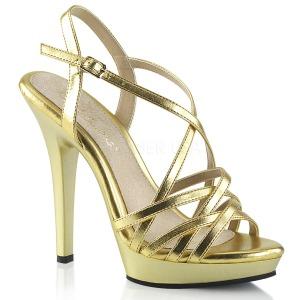 Guld 13 cm Fabulicious LIP-113 højhælede sandaler til kvinder