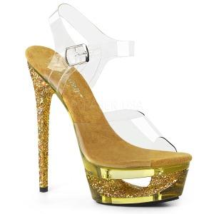Guld 16,5 cm ECLIPSE-608GT Sandaler med stiletter hæle