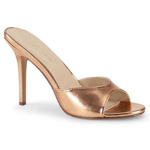 Guld Rose 10 cm CLASSIQUE-01 dame mules med høje hæl