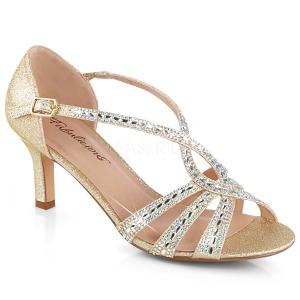 Guld glimmer 6,5 cm Fabulicious MISSY-03 højhælede sandaler til kvinder