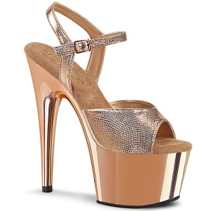 Guld krom plateau 18 cm ADORE-709 pleaser høje hæle