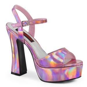 Hologram 13 cm DOLLY-09 demonia højhælede sko med blokhæl