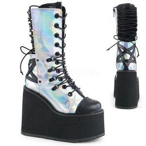 Hologram 14 cm SWING-120 goth boots with platform