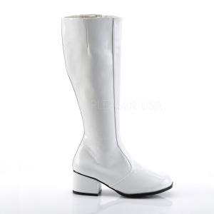 Hvid Lak 5 cm FUNTASMA GOGO Dame Støvler