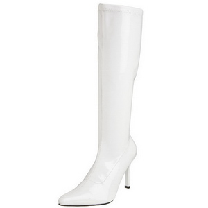 Hvid Lak 9,5 cm FUNTASMA LUST-2000 Dame Støvler