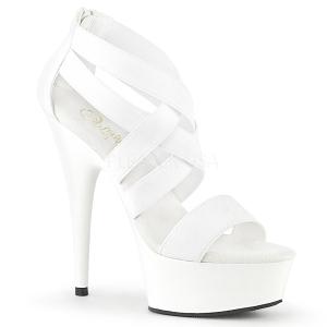 Hvid elastisk bånd 15 cm DELIGHT-669 pleaser sko med høj hæl