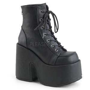 Kunstlæder 13 cm DEMONIA CAMEL-203 gothic ankelstøvler