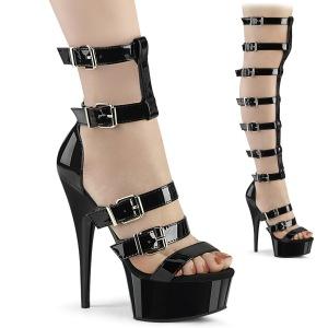 Kunstlæder 15 cm DELIGHT-600-46 gladiator sandaler med plateau