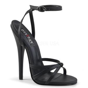 Kunstlæder 15 cm Devious DOMINA-108 højhælede sandaler til kvinder