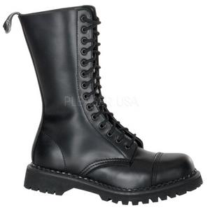 Læder ROCKY-14 Punk Ankelstøvler til Mænd Gothic Ankelstøvler