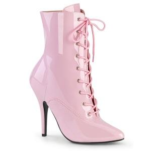 Laklæder 13 cm SEDUCE-1020 Lyserød ankelstøvler med stilethæl