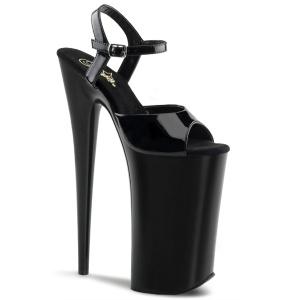 Laklæder 25,5 cm BEYOND-009 ekstremt højhælede sko - plateau høje hæle