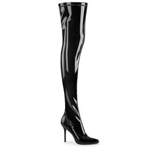 Lakstøvler 10 cm CLASSIQUE-3000 spidse overknee støvler med stiletter hæle