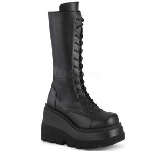 Leatherette 11,5 cm SHAKER-72 goth platform boots