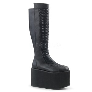 Leatherette 12 cm ROT-13 womens buckle boots with platform