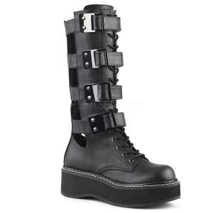 Leatherette 5 cm DEMONIA EMILY-359 goth platform boots
