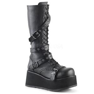 Leatherette 8,5 cm TRASHVILLE-520 Platform Mens Gothic Boots