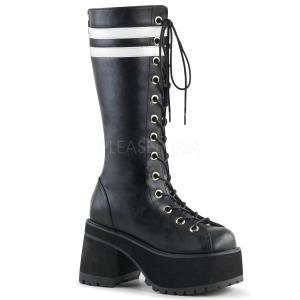 Leatherette Demonia RANGER-320 Mens Lace Up Boots