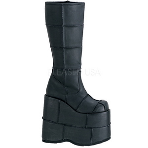 Matte 18 cm STACK-301 Platform Mens Gothic Boots