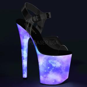 Neon 20 cm FLAMINGO-808REFL poledance sko