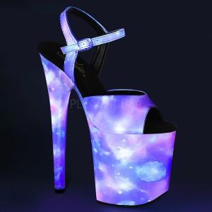 Neon 20 cm FLAMINGO-809REFL poledance sko