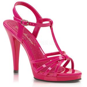 Pink Lakeret 12 cm FLAIR-420 High Heels Sko til Mænd