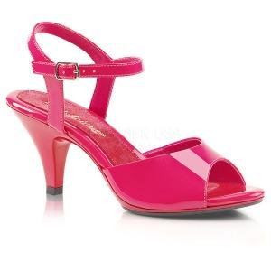 Pink Lakeret 8 cm BELLE-309 Høje Damesandaler flade Hæl