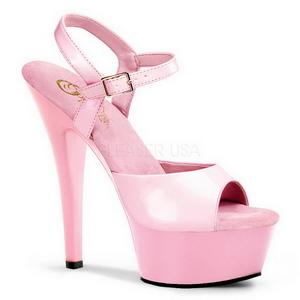 Pink Shiny 15 cm Pleaser KISS-209 High Heels Platform