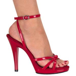 Rød Lakeret 12 cm FLAIR-436 højhælet sko til kvinder