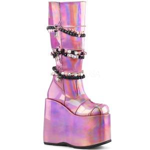 Rose Leatherette 18 cm DEMONIA SLAY-301 goth platform boots