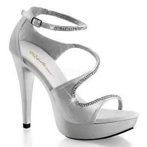 Silver Rhinestone 13 cm COCKTAIL-526 Platform High Heels Shoes