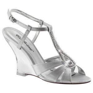 Sølv 10,5 cm LOVELY-420 Wedge Sandaler med Kilehæle