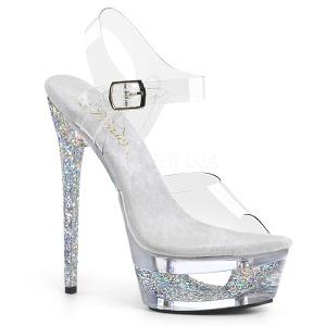 Sølv 16,5 cm ECLIPSE-608GT Sandaler med stiletter hæle
