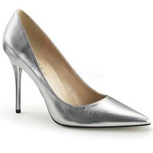 Sølv Mat 10 cm CLASSIQUE-20 Dame Pumps Stilethæle Sko
